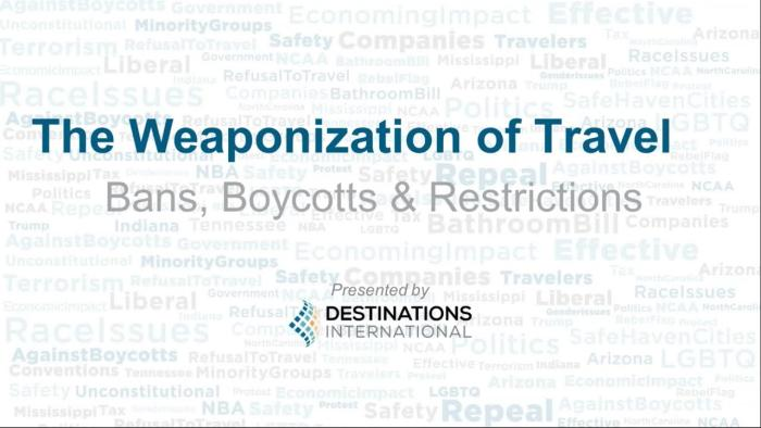 Embedded thumbnail for The Weaponization of Travel - Bans, Boycotts and Restrictions